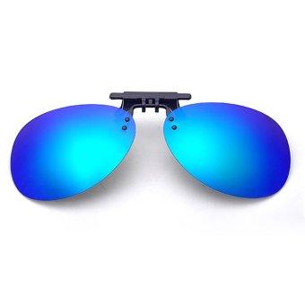 Mua Tròng kính mát kẹp phân cực cho người cận QSShop OV02XDG (Xanh dương tráng gương) giá tốt nhất