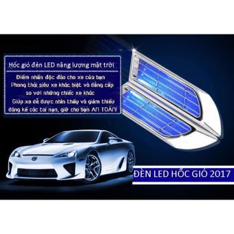 Hốc gió đèn LED năng lượng mặt trời độ xe ô tô cá tính