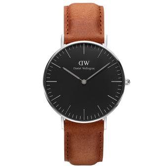 Đồng hồ nam dây da Daniel Wellington DW00100144 (Nâu đen)