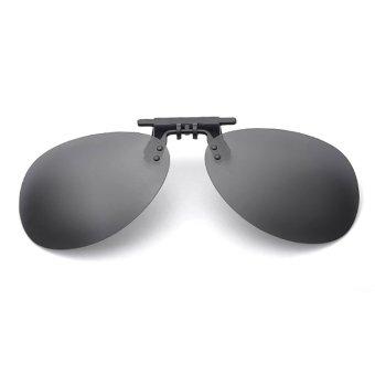 Tròng kính mát kẹp phân cực cho người cận QSShop OV02XK (Xám khói)