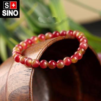 Vòng tay thạch anh đỏ hạt lựa Sino VTSN028