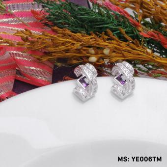 Bông tai nữ trang sức bạc Ý S925 Bạc Xinh - Cầu vồng đẹp YE006