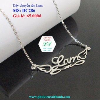 Dây chuyền Inox Nữ tên LAM siêu xinh DC286 (TRẮNG)
