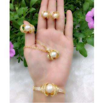 Bộ Trang Sức Xi Vàng 18K Ngọc Trai Hoàng Kim Gadoshop