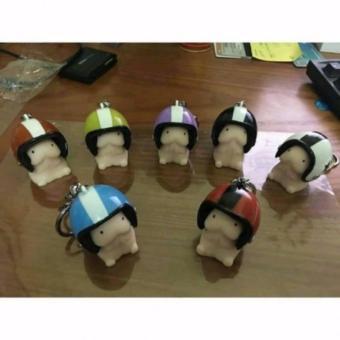 Combo 5 Móc khóa hình bé ciu đội nón bảo hiểm PD05
