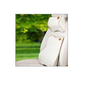Bộ gối tựa đầu và lưng cao su non MM (Màu sữa)