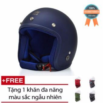 Bộ mũ bảo hiểm Royal 3/4 + 1 khăn đa năng cho phượt thủ