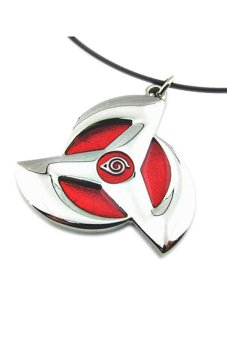 Fancyqube Anime Naruto Metal Kakashi Syaringan Pendant Necklace Cosplay Best Gift Red