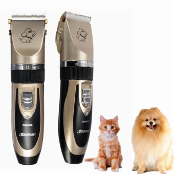 New Professional Grooming Kit Animal Pet Cat Dog Hair Trimmer Clipper Shaver Set - intl