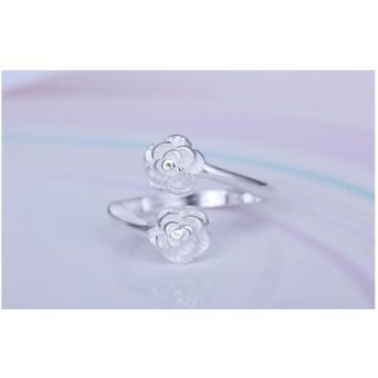 Nhẫn nữ trang sức mạ bạc Ý S925 Bạc Xinh N3360