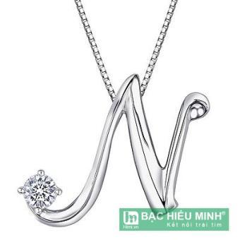 Dây chuyền bạc ta theo tên BẠC HIỂU MINH T165 mặt chữ N