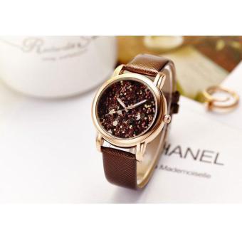 Đồng hồ nữ dây da thời trang JW 6965 (Dây nâu)
