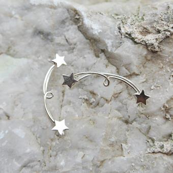 Bông tai thời trang Mini Jewelry ngôi sao LDE0022 bạc S925 Italia