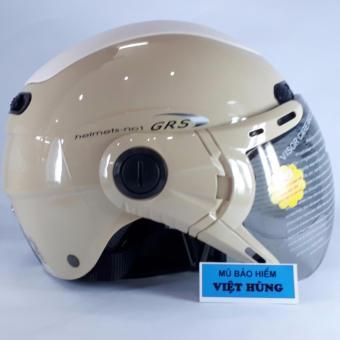 Mũ bảo hiểm GRS A102K (Sữa line trắng)