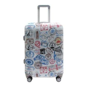 Vali kéo du lịch nhựa hình Visa các nước size nhỏ 5 tấc TA051