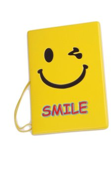 Fancyqube Passport Holder Smiling face (Yellow) (Intl)