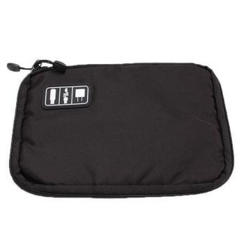 LALANG Data Cable Earphone Bag Organizer Digital Accessories Cases Black