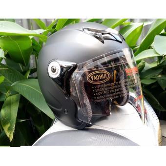 Mũ Bảo Hiểm MOTO NAPOLI Tem chuẩn Quatest 3 ( đen nhám kính trong)