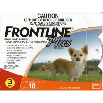 Thuốc Nhỏ Gáy Trị Ve Rận Frontline Plus Cho Chó