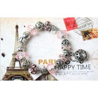 Vòng tay đính hạt charms cao cấp Jewelry Queen Victoria Charm Panda PDR192 (Bạc)