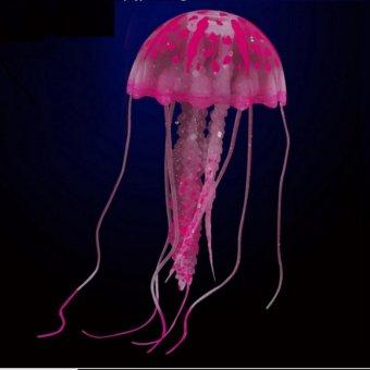 Con sứa huỳnh quang hình thả trang trí bể cá cảnh (màu ngẫu nhiên)