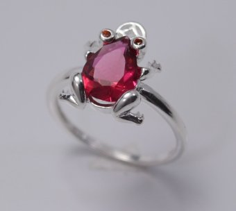 Nhẫn bạc nữ Bạc Xinh S925 Italia RR1250 (Đỏ)