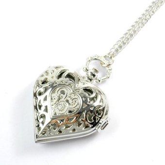 Đồng hồ đeo cổ mặt trái tim (Bạc)