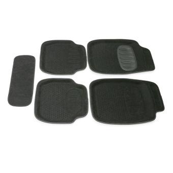 Bộ thảm chống trượt thần lỳ TRên ô tô 3D 2362 (Đen)