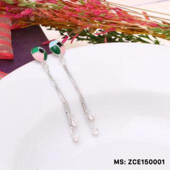 Bông tai nữ trang sức bạc S925 Italia Bạc Xinh ZCE150001