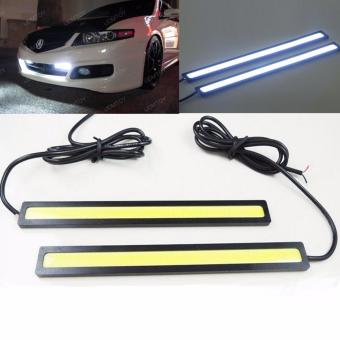 Bộ 02 bóng đèn DRL LED COB 17cm siêu sáng cho xe máy, ô tô (Ánh sáng trắng)
