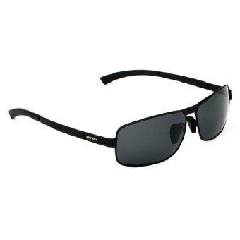 Fancyqube Polarized Sunglasses Square Black Frame Sunglasses Black (Intl)