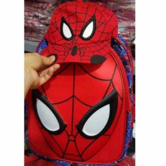 Balo kèm mũ hình siêu nhân nhện cho bé mẫu giáo