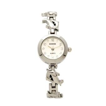 Đồng hồ nữ dây da hình cá heo KI057 (Trắng)
