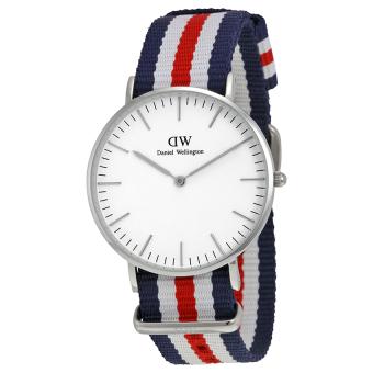Đồng hồ nữ dây vải Daniel Wellington 0606DW (Trắng sò).
