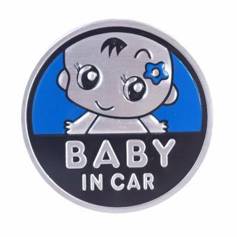 Logo Baby In Car dán xe ôtô (dương-tròn 7cm)