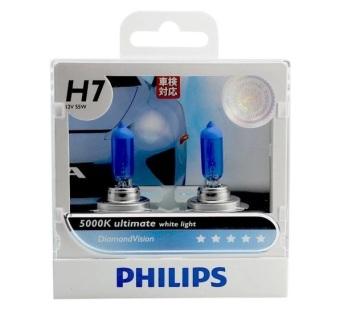 Bộ 2 bóng đèn Philips DiamondVision 5000K chân H7