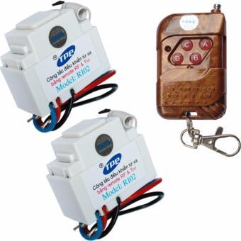 Bộ 2 công tắc điều khiển từ xa IR-RF TPE RI02+ 01 Remote 4 nút - lắp mặt panasonic
