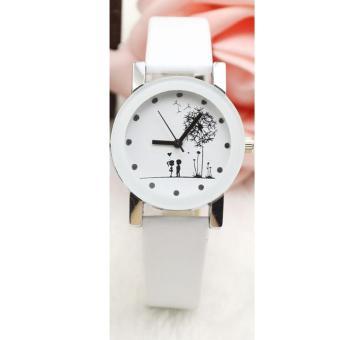Đồng hồ nữ dây da thời trang IDMUASAM 9432 (Dây trắng mặt trắng)