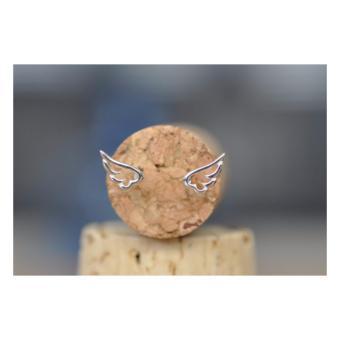 Bông tai đôi cánh thiên thần Mini Jewelry LDE0157 bạc S925 Italia