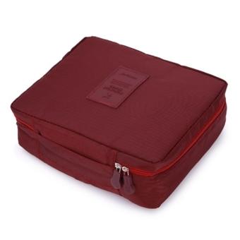 Túi Đựng Đồ Nhiều Ngăn Chống Thấm Tiện Ích Du Lịch (Đỏ Nâu)