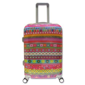Vali kéo du lịch nhựa hình thời trang Thổ Cẩm size trung đựng 20Kg TA0024
