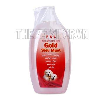 Dầu tắm Gold trị ve rận giúp lông siêu mượt cho chó mèo 700ml