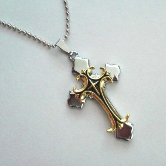 LALANG Jewellery Beautiful Fashion Chain Religion Cross Pendant Necklace Black