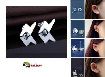 Bông tai nữ (Khuyên tai) hình tia sét phong cách Simple Style Châu Âu (BT29)