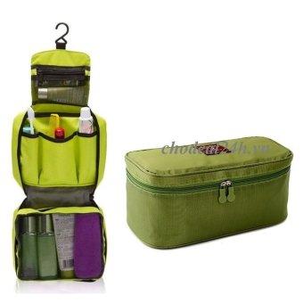 Bộ túi đựng đồ cá nhân du lịch và túi đựng đồ lót du lịch chodeal24h.vn (xanh lá)