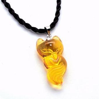 Dây chuyền nữ mặt đá Hồ ly Crystal (Vàng)
