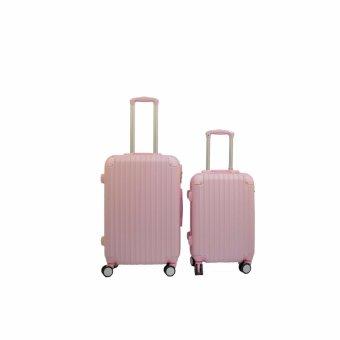 Bộ đôi vali nhựa cứng SAM hồng 20+24inch