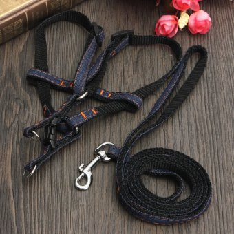 [1] Pet Dog Puppy Chest Back Rope Strap Belt Restraint Lead Harness Leash - intl