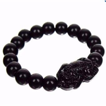 Vòng phong thuỷ tỳ hưu đá (đen)