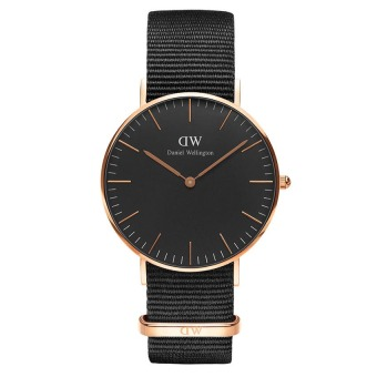 Đồng hồ nữ dây vải Daniel Wellington DW00100150 (Đen).